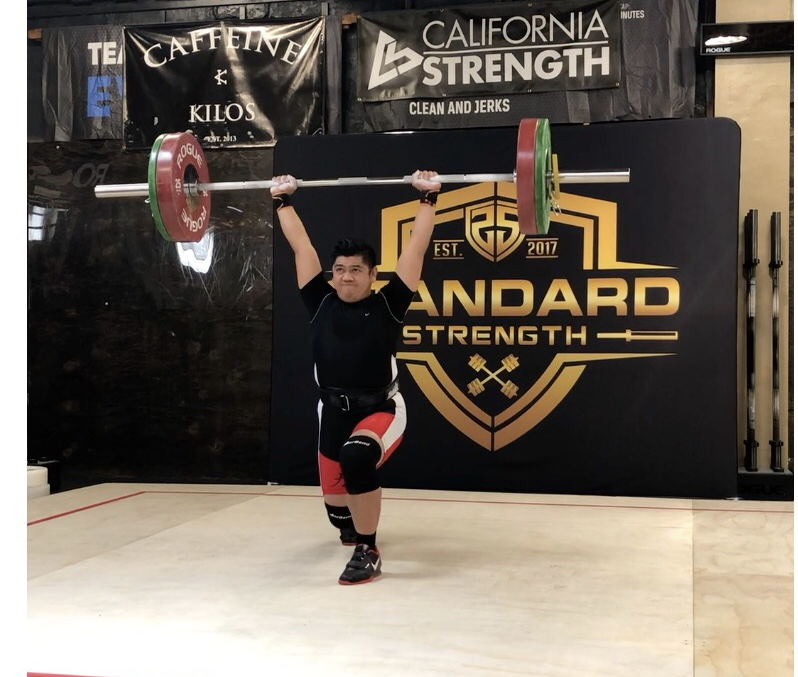 41263e648c2 Andrew Dela Cruz olympic weightlifting coach and master personal trainer  competing at Caffeine and Kilos weightlifting